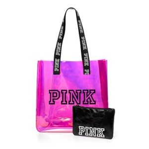 PINK Victoria's Secret Bags - PINK VS iridescent tote & pouch NIP